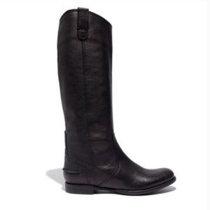 Madewell The Archive black leather riding boots 8